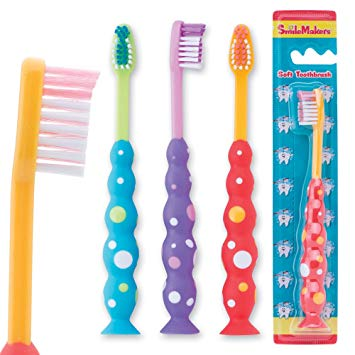 Smile Care Toddler Bubble Grip Toothbrushes - 48 per Pack