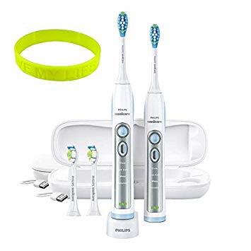 Oral Care 2-Pack Philips Sonicare FlexCare Whitening Edition Rechargeable Toothbrush With UV Sanitizer...