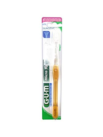 Gum MicroTip Toothbrush - 475 Compact, Ultra Soft - 12 Toothbrushes