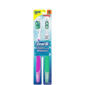 Oral B Advantage 3D White Vivid Toothbrush, Soft - 2 ct - 2 pk
