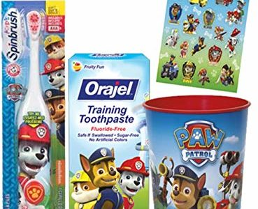 Paw Patrol Marshall Inspired Toothbrush – 3pc. Little Pup's Bright Smile Oral Hygiene Trainning Set! Plus… Review