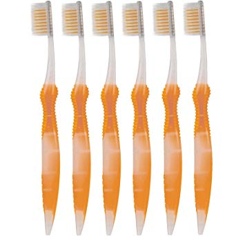 Sofresh Flossing Toothbrush - Adult Size | Your Choice of Color | (6, Orange)