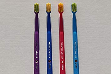 Ultra soft toothbrush, 4 brushes, Curaprox 5460. Better cleaning, softer feeling in vibrant His & Hers...
