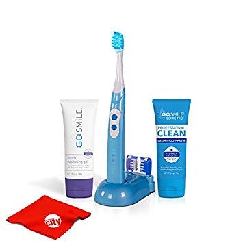 Go Smile Pro Teeth Whitening Kit UV Sonic Toothbrush Dental Care System (Aqua Blue)