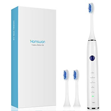 Electric Toothbrush, Clean as Dentist Rechargeable Sonic Toothbrush with Smart Timer, 5 Optional...