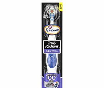 ARM & HAMMER Spinbrush Powered Truly Radiant Toothbrush, Extra White, Soft 1 ea (Pack of 2) Review