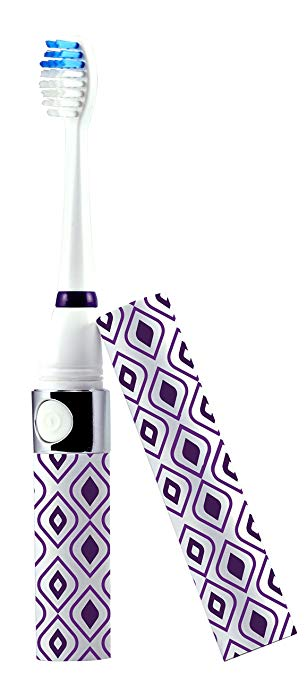 Pursonic S52 Portable Battery Operated Sonic Toothbrush To-Go with 2 Brush Heads & AAA Battery...