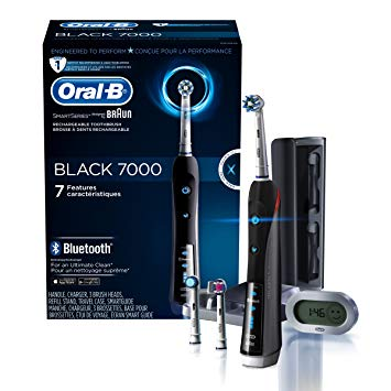 Oral-B 7000 SmartSeries Rechargeable Power Electric Toothbrush with 3 Replacement Brush Heads,...