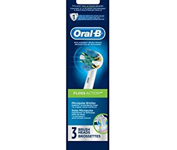 Oral-B Floss Action Electric Toothbrush Replacement Brush Heads Refill, 3 Count Packaging may Vary Review