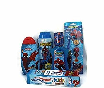 Spiderman 5 Piece Oral Tooth Care Bath Bundle: Aquafresh Toothpaste, Mouthwash, Toothbrush, 2 in 1… Review