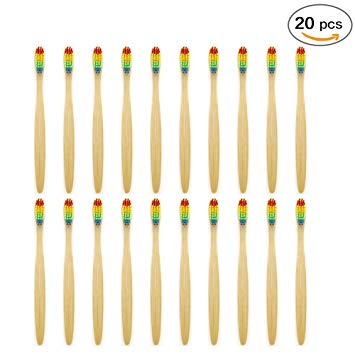 Sonifox Bamboo Toothbrush Eco-Friendly Biodegradable Wooden Toothbrushes Nylon Bristle … (20)