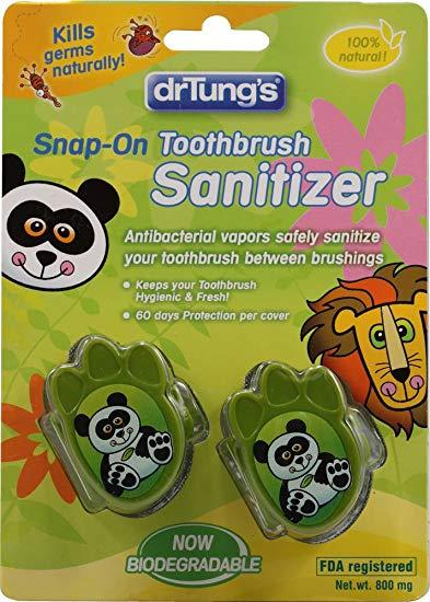 DR. TUNG'S TBRUSH SANITIZER,KIDS, 2 PK